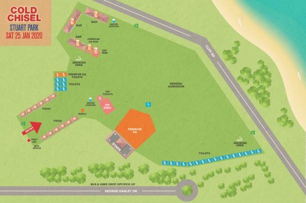 Cold-Chisel-venue-map--Stuart-Park-Wollongong-final