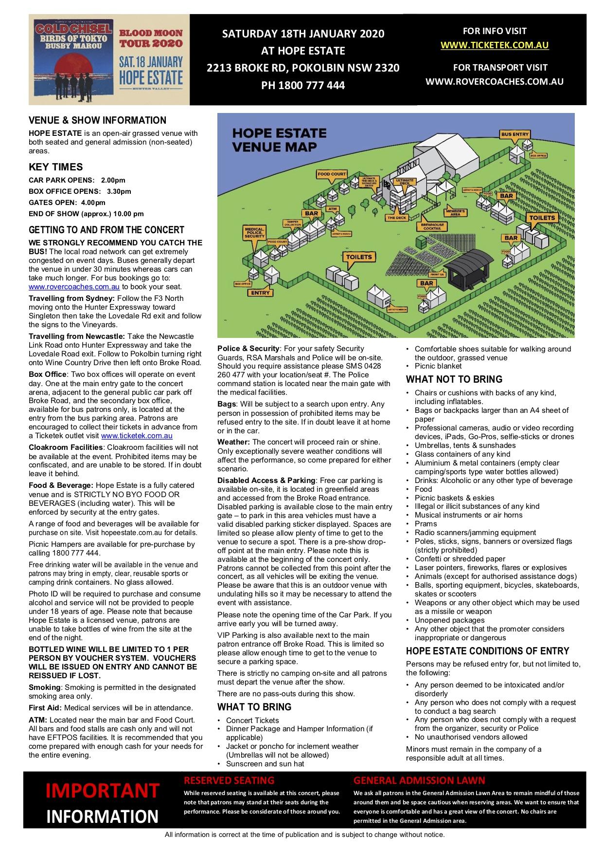 Venue information sheet - Cold Chisel 2020 (2)